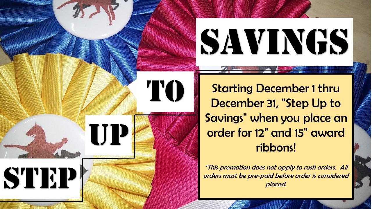 Step Up to Savings Event - Award Ribbons - McLaughlin Ribbon