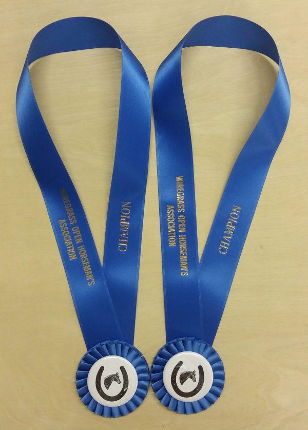 podium neck rosette award ribbon