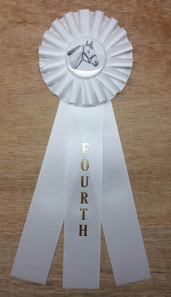 quick ship horse show rosette ribbon fourth place