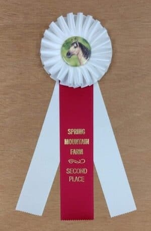 classic 12 award ribbon custom rosette
