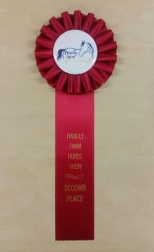 simple 12 award ribbon custom rosette
