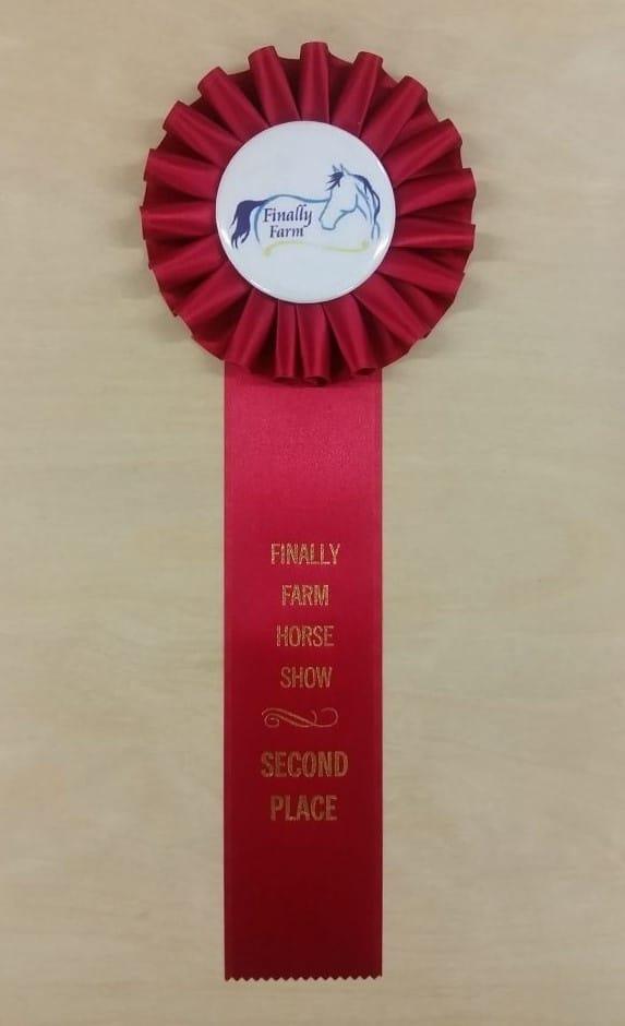 simple 12 award ribbon custom rosette