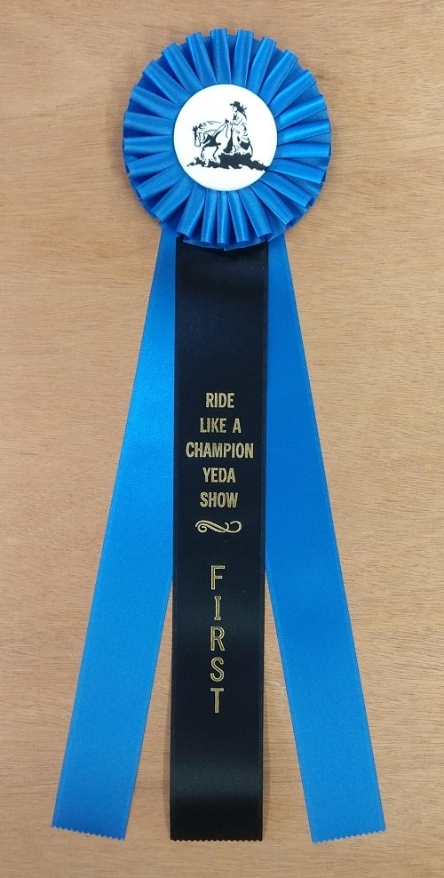 noble 18 champion award rosette ribbon
