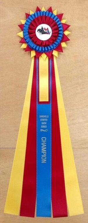 "Fraser 29"" Champion Award Rosette Ribbon"